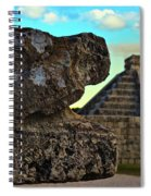 Kukulkan Pyramid At Chichen Itza In The Yucatan Of Mexico Spiral Notebook