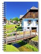 Kumrovec Picturesque Village In Zagorje Region Of Croatia Spiral Notebook
