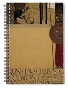 kunstavsstellvng - Vienna Secession Exhibition - Retro travel Poster - Vintage Poster Spiral Notebook