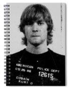 Kurt Cobain Mug Shot Vertical Black And Gray Grey Spiral Notebook