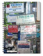 Kuta Street Signs -- Bali Spiral Notebook