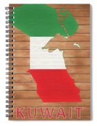 Kuwait Rustic Map On Wood Spiral Notebook