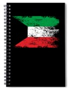 Kuwait Shirt Gift Country Flag Patriotic Travel Asia Light Spiral Notebook