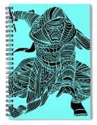 Kylo Ren - Star Wars Art - Blue Spiral Notebook