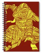 Kylo Ren - Star Wars Art - Red And Yellow Spiral Notebook