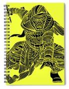 Kylo Ren - Star Wars Art - Yellow Spiral Notebook
