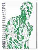 Kyrie Irving Boston Celtics Pixel Art 42 Spiral Notebook