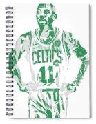 Kyrie Irving Boston Celtics Pixel Art 8 Spiral Notebook