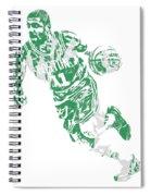 Kyrie Irving Boston Celtics Pixel Art 9 Spiral Notebook