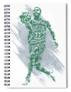 Kyrie Irving Boston Celtics Water Color Art Spiral Notebook