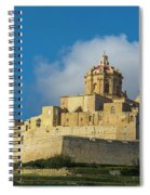 L-imdina Castle City Cathedral And Walls Spiral Notebook