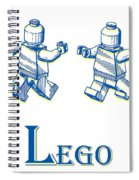 L Is For Lego Spiral Notebook