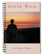 la Casita Playa Hermosa Puntarenas Costa Rica - Sunset Happy Couple Panorama Greeting Card Soft Spiral Notebook