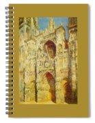 La Cathedrale De Rouen Le Portail Et La Tour Saint-ro Claude Oscar Monet Spiral Notebook