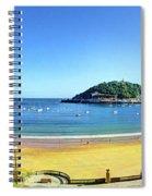 La Concha Bay San Sebastian Spiral Notebook