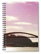 La Conner Rainbow Bridge-  By Linda Woods Spiral Notebook