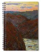 La Creuse, Sunset Spiral Notebook