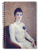 La Dame La Robe Blanche 1886 Spiral Notebook