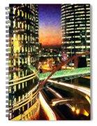 La Defense By Night - Paris Spiral Notebook