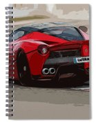 La Ferrari - Rear View Spiral Notebook