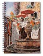 la fontana a St Paul de Vence Spiral Notebook