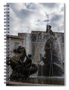 La Fontana Di Diana - Fountain Of Diana Silver Jets And Sky Drama Spiral Notebook