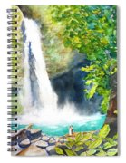 La Fortuna Waterfall Spiral Notebook