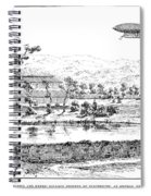 La France Airship, 1884 Spiral Notebook