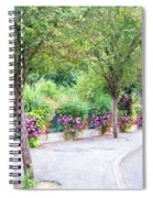La Gacilly, Morbihan, Brittany, France, Streetscape Spiral Notebook