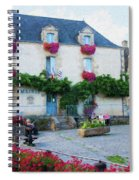 La Gacilly, Morbihan, Brittany, France, Town Hall Painting Spiral Notebook
