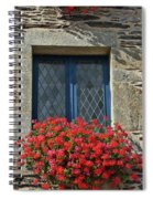La Gacilly, Morbihan, Brittany, France, Window Spiral Notebook