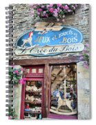 La Gacilly, Morbihan, Brittany, France, Wooden Toy Store Spiral Notebook