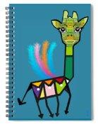 La Girafe A Plumes Spiral Notebook