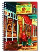 La Maison Du Bagel Spiral Notebook