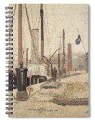 La Maria At Honfleur Spiral Notebook