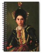 La Montera Segovia Girl In Fiesta Costume 1912 Spiral Notebook