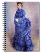 La Parisienne The Blue Lady  Spiral Notebook