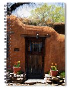 La Puerta Marron Vieja - The Old Brown Door Spiral Notebook