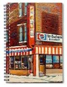 La Quebecoise Restaurant Deli Spiral Notebook