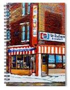 La Quebecoise Restaurant Montreal Spiral Notebook