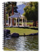 La Quinta Park Lake And Gazebo Spiral Notebook