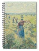 The Harvesting Of Hay Eragny  Spiral Notebook