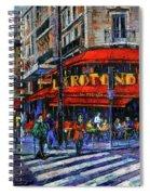 La Rotonde Paris Modern Impressionist Palette Knife Oil Painting Spiral Notebook