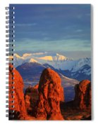 La Sal Mountains In Arches Np Utah Spiral Notebook