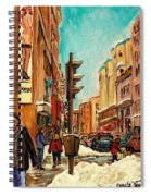 La Senza St Catherine Street Downtown Montreal Spiral Notebook