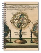 La Sphere Artificielle - Illustration Of The Globe - Celestial And Terrestrial Globes - Astrolabe Spiral Notebook