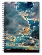 Labradorite Rain Spiral Notebook