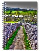 Labyrinth Of Grassington Spiral Notebook