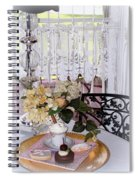 Lacey Curtain And Pastry Spiral Notebook