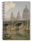 Blackfriars Bridge And St Paul's Cathedral Spiral Notebook